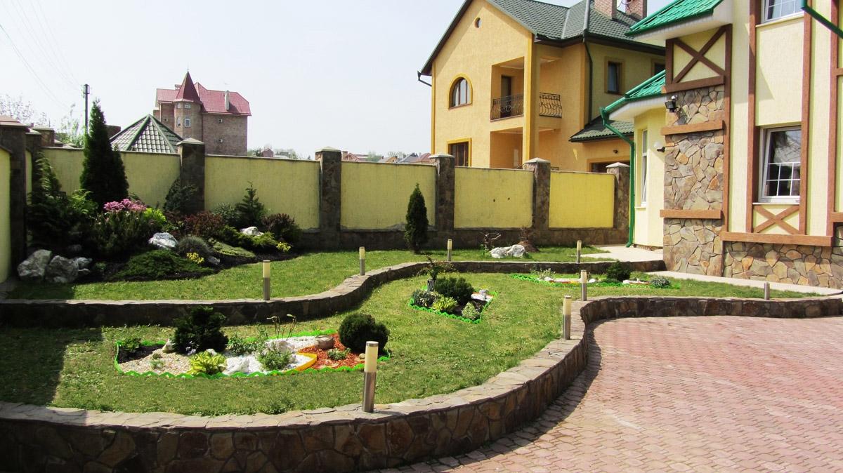 Частный двор дизайн своими руками фото